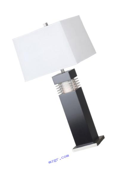 Kenroy Home 20109BL Wyatt Table Lamp, Black with Acrylic Accents