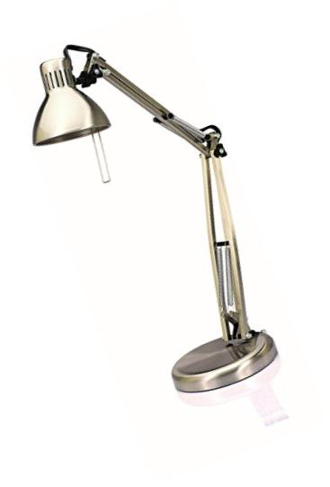 V-LIGHT Halogen Architect Style Desk Lamp with Double Swing-Arm Design (VS407SN)