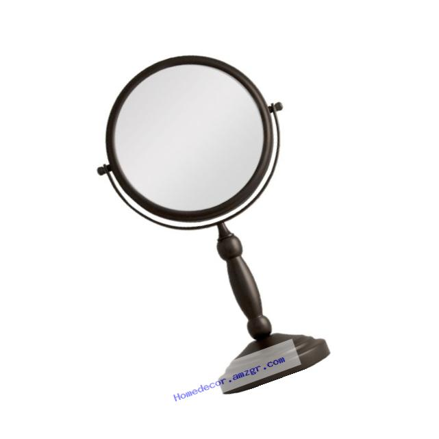Zadro 10x Mag 2-Sided Swivel Vanity Mirror, 8-Inch, Oil-Rubbed Bronze Finish