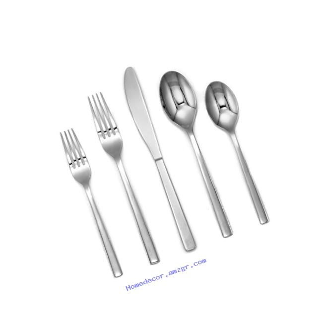 Cambridge Silversmiths 20 Piece Cortney Mirror Flatware Set (Service for 4), Stainless Steel