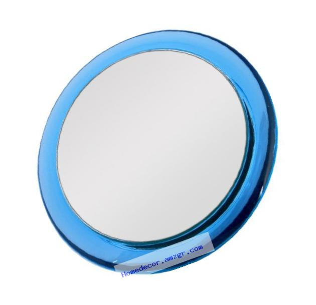 Zadro 5x Two-Sided Acrylic Compact Mirror, 4-Inch, Blue