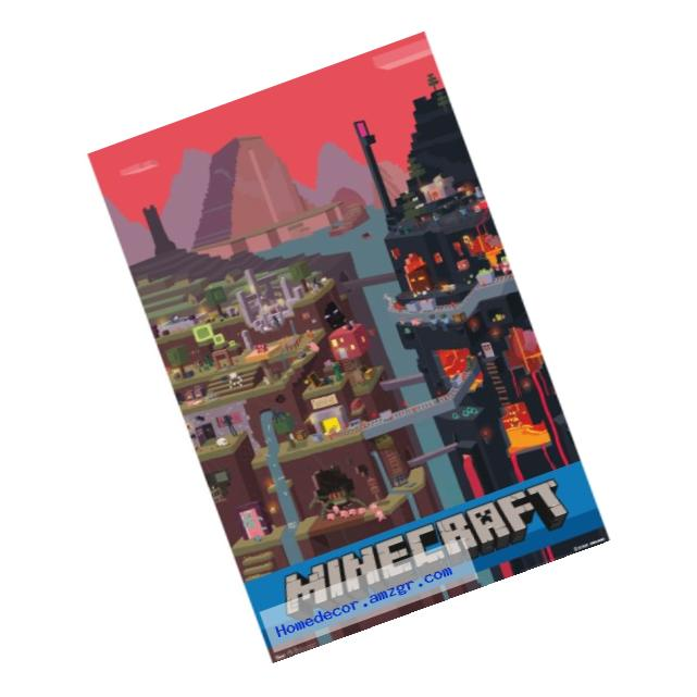 Trends International Minecraft Cube Wall Poster 22.375
