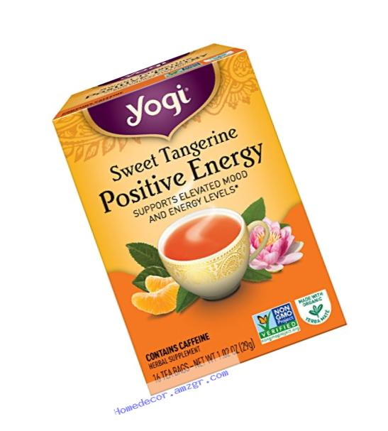 Yogi Sweet Tangerine Positive Energy, 1.02 Ounce (Pack of 6), Packaging May Vary