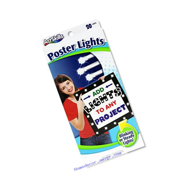 ArtSkills Poster Lights, One String of 20 LED Lights (PA-1236)
