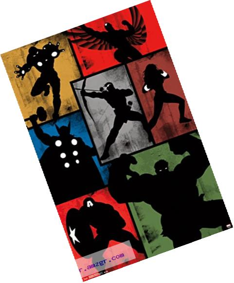 Trends International Marvel Comics Avengers Simplistic Grid Wall Poster 22.375